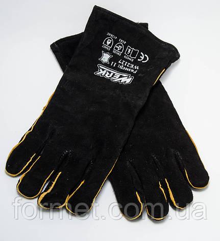 Рукавички-краги зварювальні чорні WERK, фото 2
