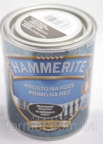Фарба Hammerite темно-зелена молоткова 0,7 л, фото 2