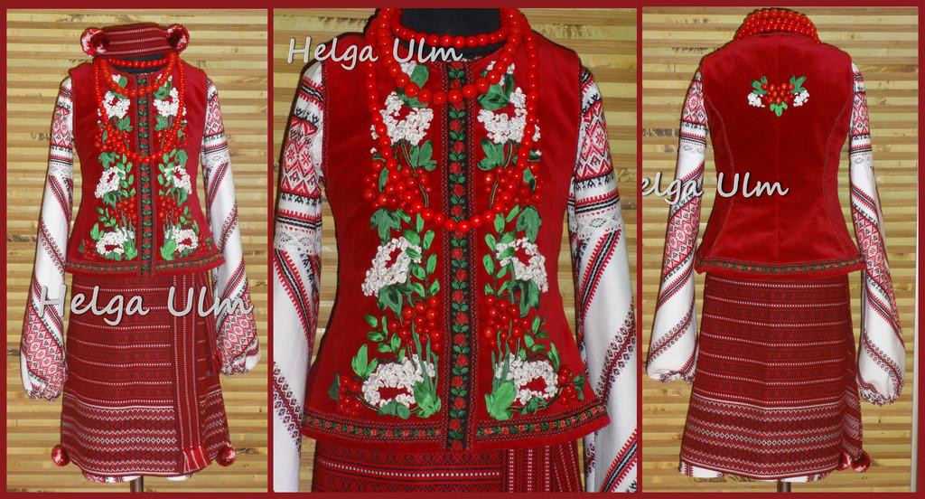 Український костюм (стрій) з шести частин для дівчинки 6 років.