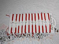 Браслет оберег красная нить с разными крестами в упаковке, фото 1