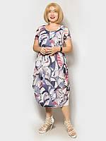 Женское летнее платье большого размера. Размерный ряд 50, 52,54, 56