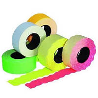 Етикет-стрічка 26 х 12 кольорова, хвиля
