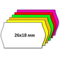 Этикет-лента 26 х 18 белая фигурная, волна, фото 1