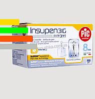 Иглы Инсупен 8мм для шприц-ручек инсулиновых - Insupen 31G, 100 шт.