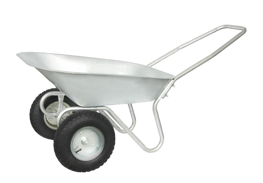 Тачка 65л, 110 кг, 2 колеса cадово-строительная Латвия VITALS 65/110