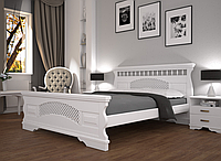 Кровать двуспальная ТИС Атлант 23 бук белый