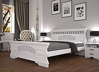 Кровать двуспальная ТИС Атлант 23 сосна белый