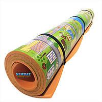 Детский коврик 2000×1200×8мм, «Парковый городок», теплоизоляционный, развивающий, игровой коврик.