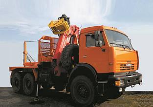 Автомобиль-лесовоз на базе шасси КАМАЗ