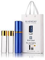 Подарочный набор Givenchy Pour Homme Blue Label edt 3X15 ml, мужская туалетная вода!, фото 1