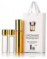 Подарочный набор Yves Saint Laurent L'hommel edt 3X15 ml, мужская туалетная вода!, фото 1