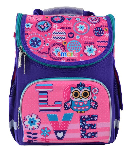 555926 Школьный каркасный рюкзак Smart PG-11 Bright fantasy 26*34*14