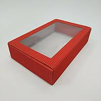 Коробка из гофрокартону  215*140*50 мм. червона