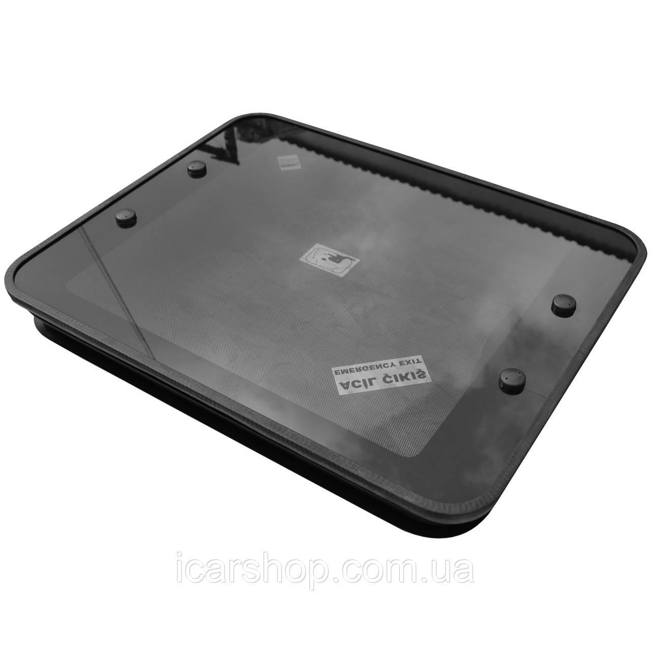 Вентиляционный люк стеклянный 75х60 с уплотнителем ATS