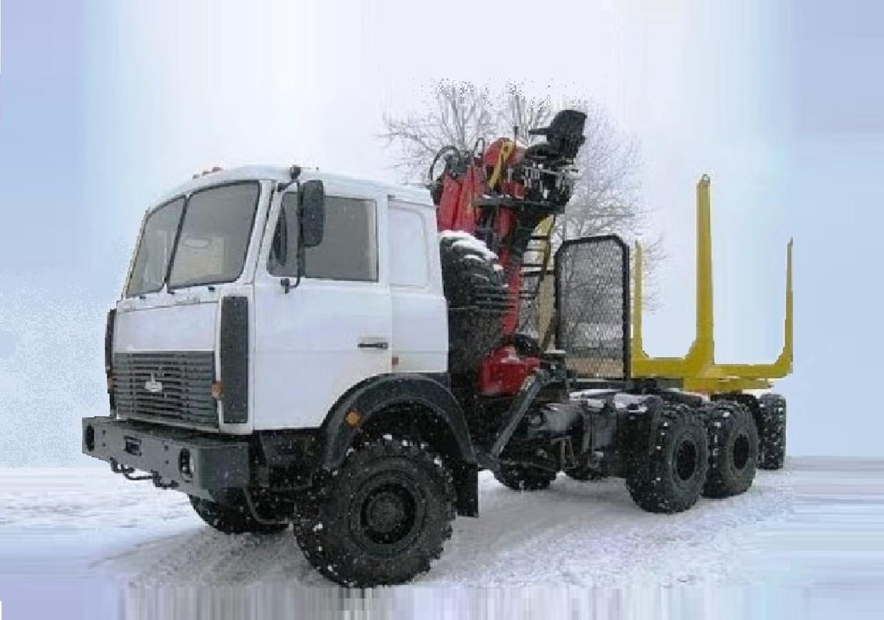 Лесовоз на базе шасси автомобиля МАЗ