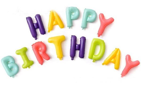 """Шары буквы фольгированные """"Happy Birthday"""". Цвет: Macaron. Размер: 40см."""