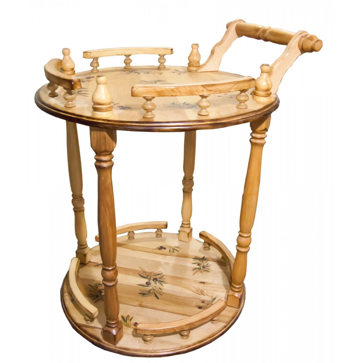 столик сервировочный из натурального дерева отечественного производства оливка