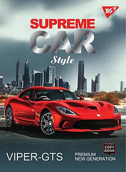 """Тетрадь А5/80 дв.спираль, мат.лам+фольга серебро+Уф.выб """"Supreme cars"""" YES, 6шт/уп."""