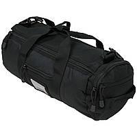 Тактическая дорожная наплечная сумка-баул MFH MOLLE черная объем 12л, фото 1