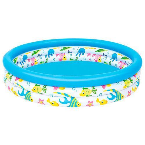 BW Бассейн 51009  детский, надувной, круглый, 122-25см, 3 кольца, в кор-ке,