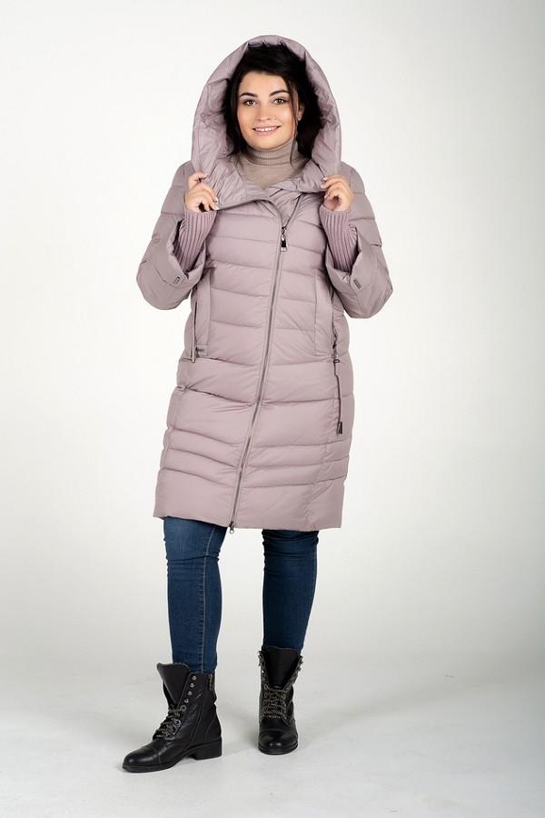 Длинная зимняя куртка Алина роза (46-56)