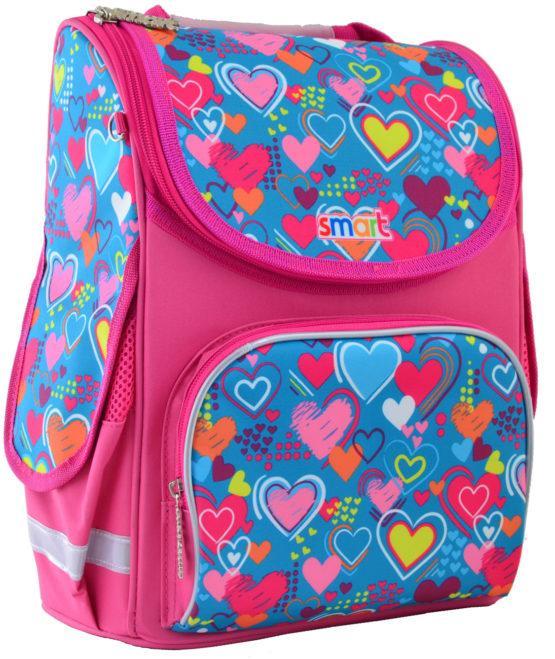 555928 Каркасный рюкзак для девочек Smart PG-11 Charms 26*34*14