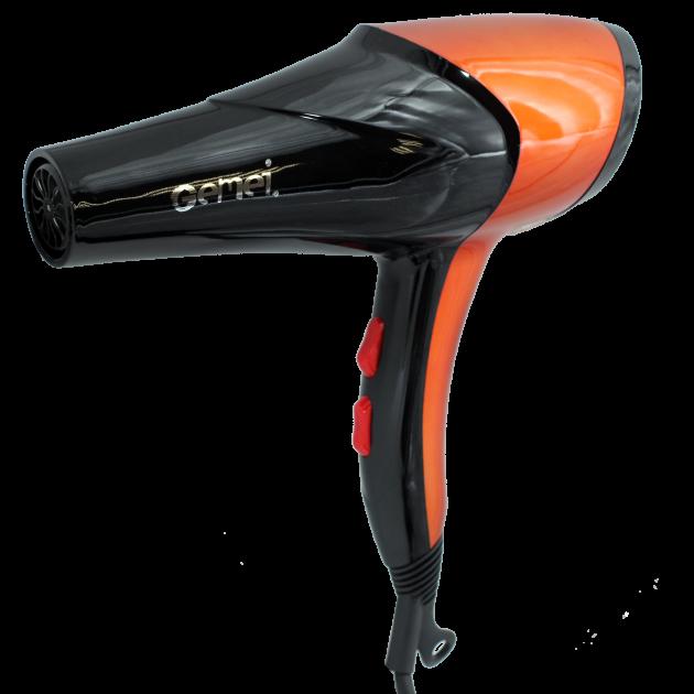 Фен Gemei GM 1766 2600 Вт Черно-оранжевый