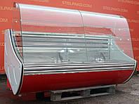 Кондитерская холодильная витрина «Технохолод Флорида ВКХ» 2.1 м. (Украина), очень широкая выкладка 80 см., Б/у