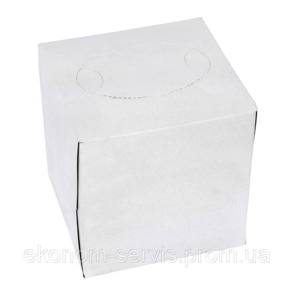 Салфетка косметическая V-сложение в кубе, 20*20, белая без рисунка, 80 шт