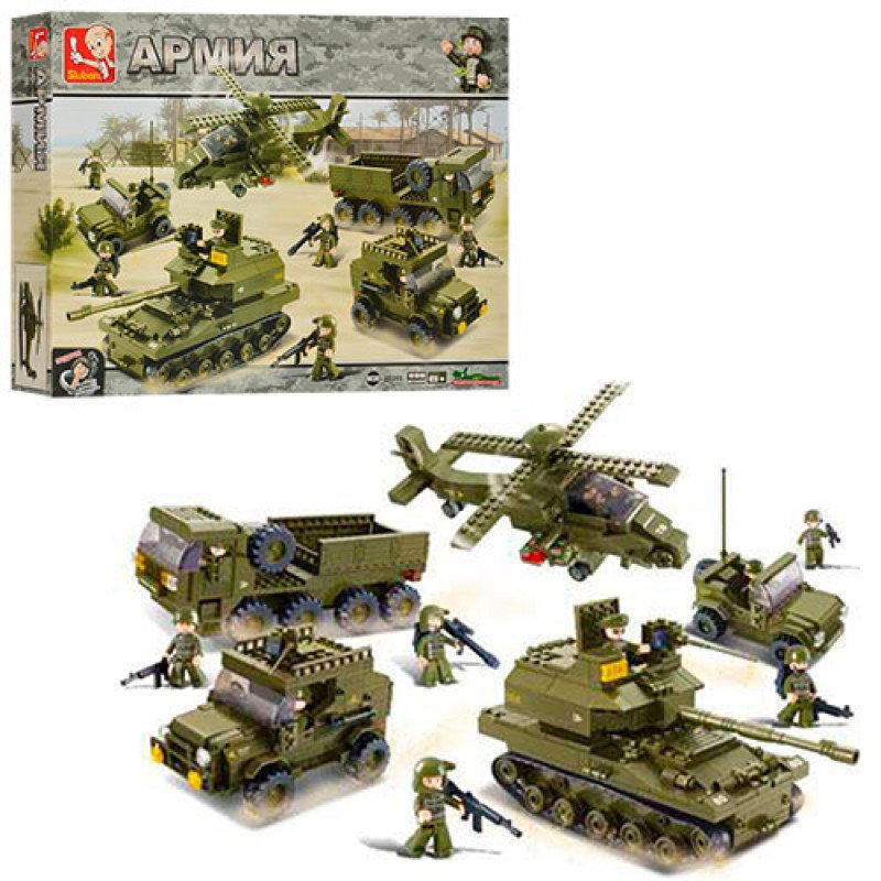"""Конструктор Sluban M38-B0311 """"Сухопутные войска"""" из серии """"Армия"""" 996 деталей."""