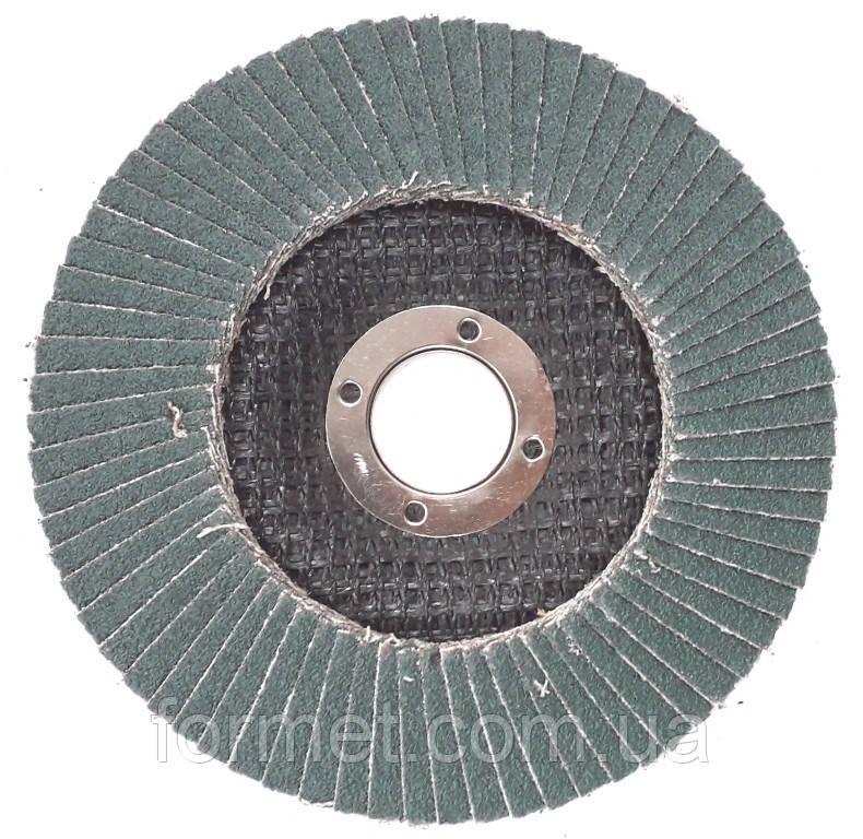 Круг зачистной лепестковый 125* 36 плоский WERK цирконий