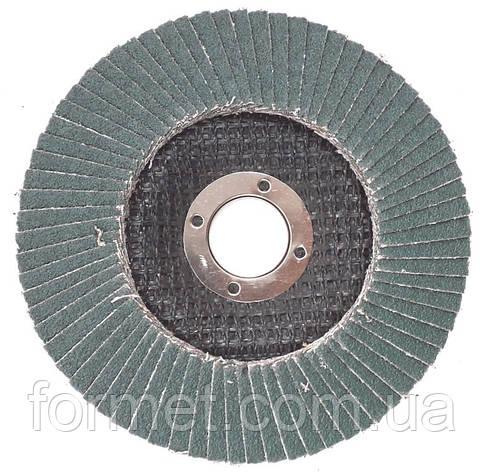 Круг зачистной лепестковый 125* 36 плоский WERK цирконий, фото 2