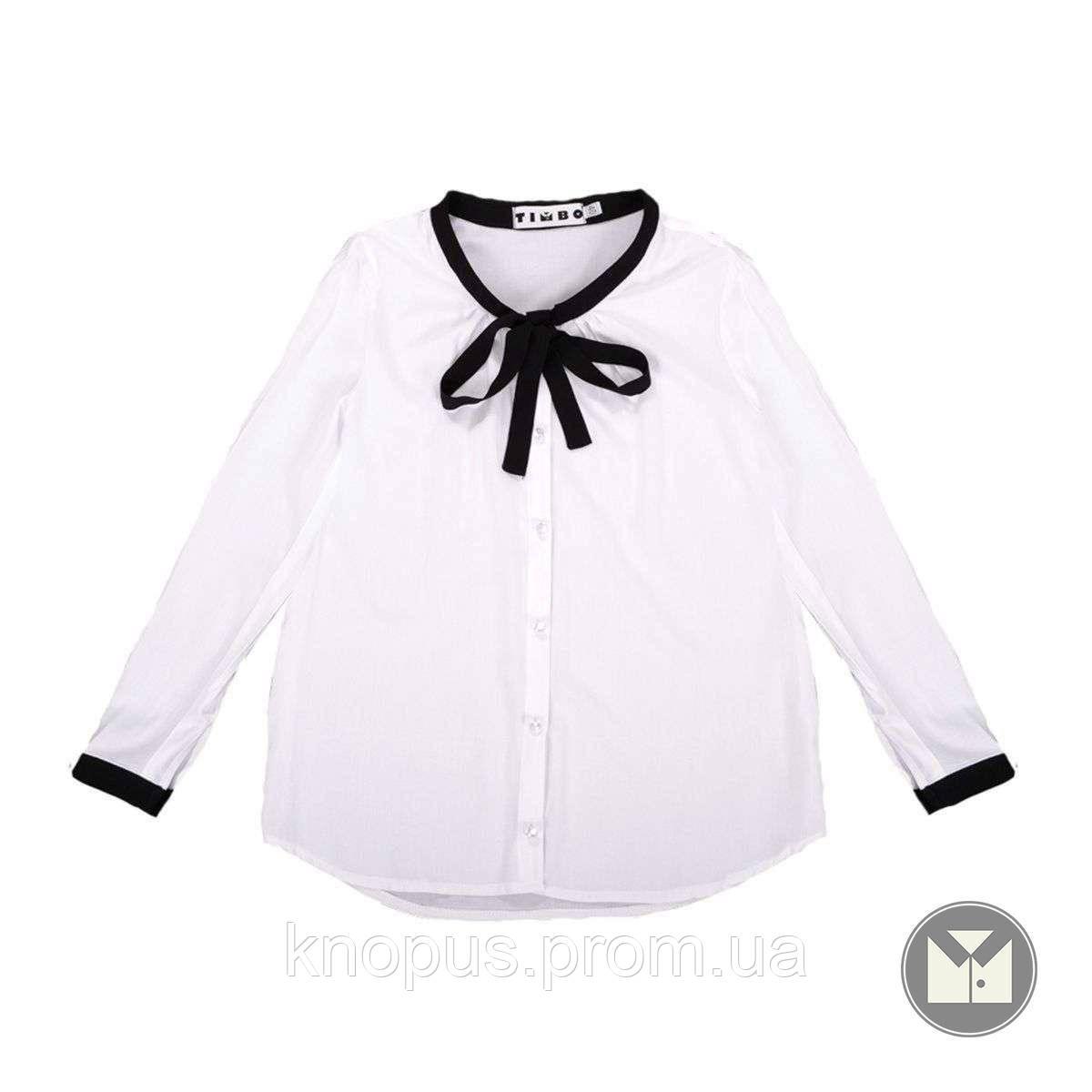 Блуза школьная Klara  (белая), Тимбо, размеры 122-152.