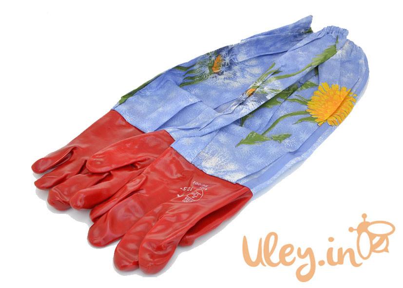 Перчатки с нарукавниками резиновые