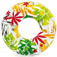 Круг Intex 58263 Белый с листьями