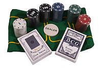Набор для игры в покер с номиналом, 120 фишек., фото 1