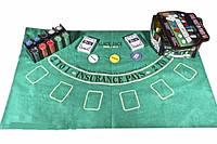 Набор для игры в покер в оловянном кейсе, 200 фишек., фото 1