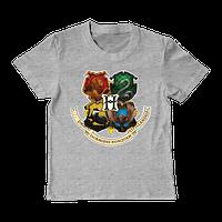Детская футболка с гербом HogWarts, фото 1