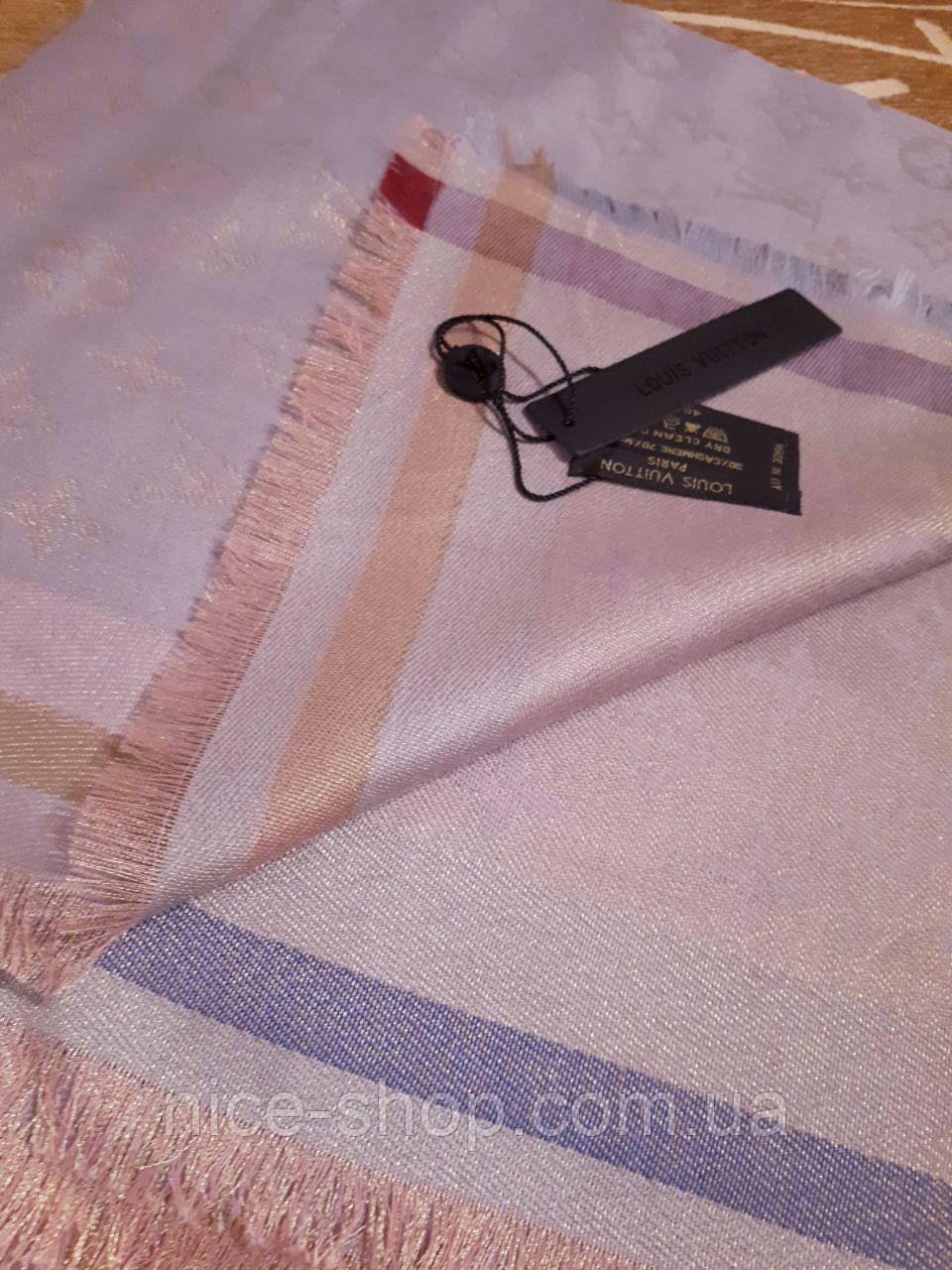 Хустка Louis Vuitton люрекс пудра