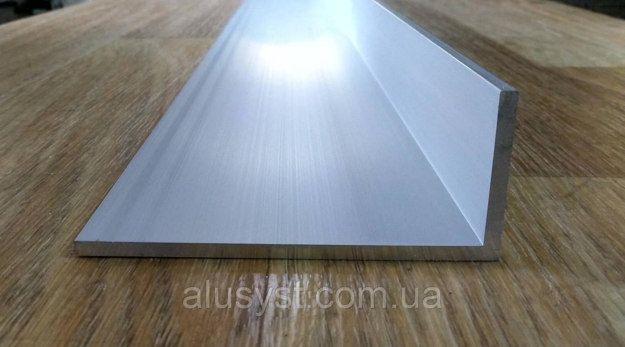 Уголок алюминий, анод 100х40х4, анод