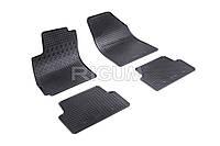 Коврики в салон Chevrolet Aveo / Vida 11- Резиновые RIGUM Комплект из 4-х ковриков Черный
