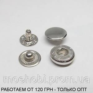 Кнопки альфа VT-2 (10мм) никель, 60шт 0315