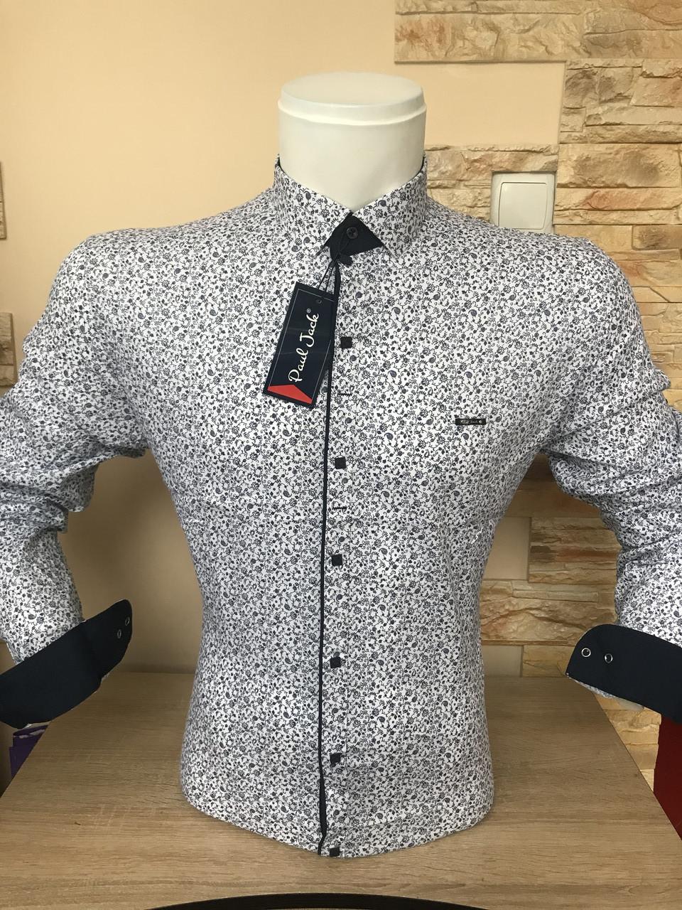Рубашка длинный рукав Paul Jack белая