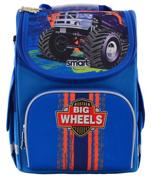 555971 Школьный каркасный рюкзак Smart PG-11 Big Wheels 26*34*14