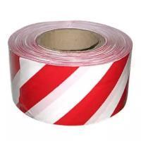Лента барьерная 50мм бело-красная (200м)  Сталь