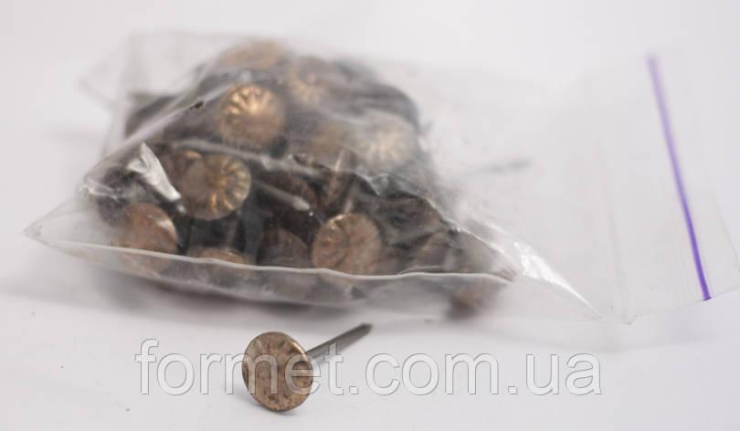 Гвозди обивочные бронза, фото 2