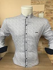 Рубашка длинный рукав Paul Jack стойка с принтом