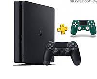 PlayStation 4 Slim 1Tb Rus Black (СUH-2208B) + геймпад  Alpine Green