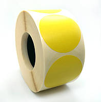 Этикетка T.Eco 44 мм (круг) желтая