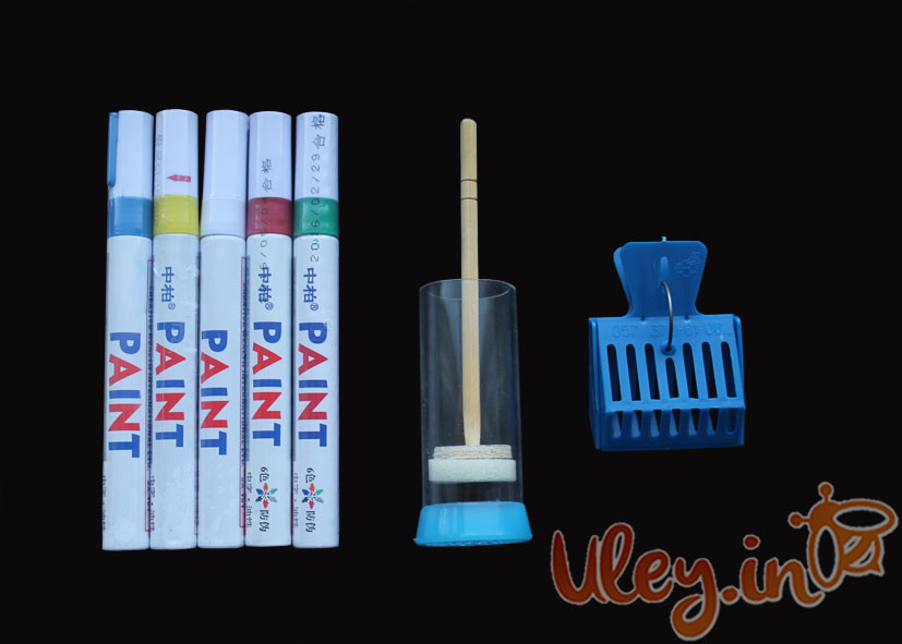 Набор для метки маток (Флобер, бабочка, маркера 5 шт. белый, красный, синий, зеленый, желтый)